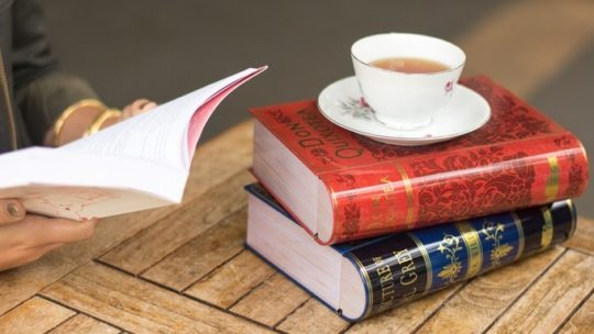 NovelTeas, a tea, and a book