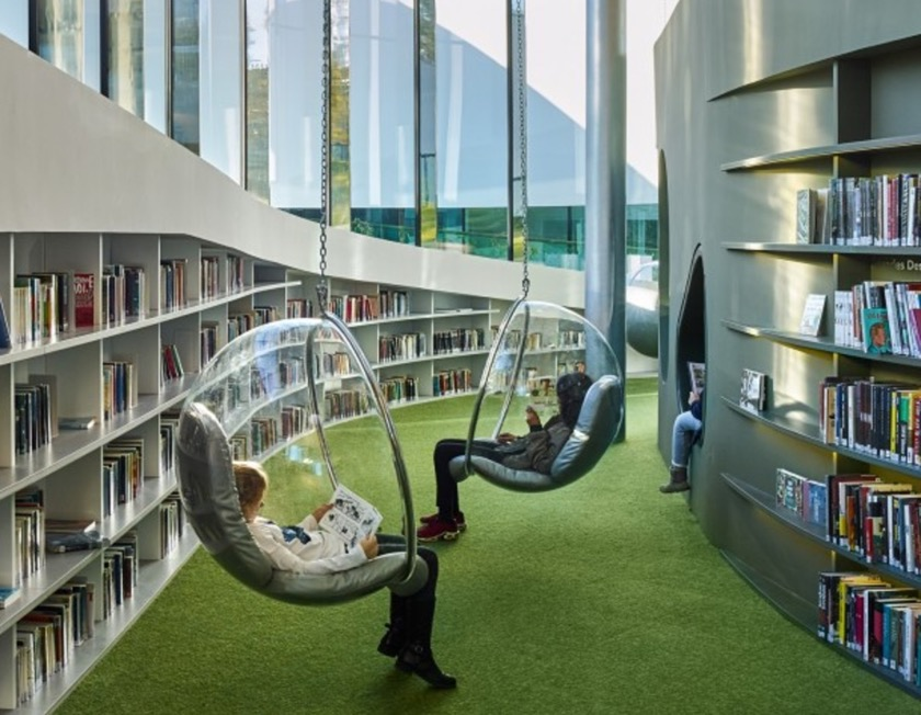 A futuristic library in france is like the city s living - Interior design schools in alabama ...