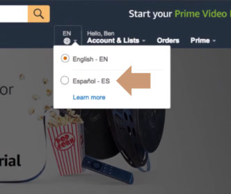Amazon launches the Spanish-language option of the main website