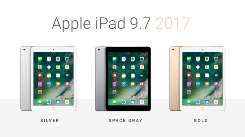 Apple iPad 9.7 2017 - Silver, Space Gray, and Gold color versions