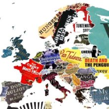 Europe on a literary map of the world