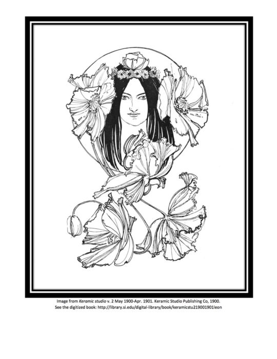Example page from Smithsonian Libraries Coloring Book