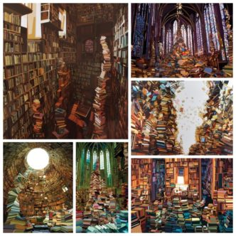 Fascinating book paintings by Pierpaolo Rovero