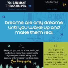 20 most inspiring quotes from young adult books #infographic