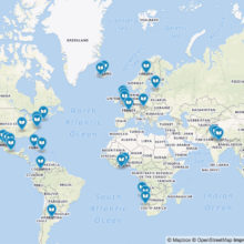 Librarians' favorite books around the world interactive map