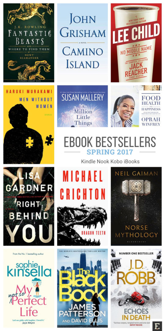 Most expected ebook bestsellers of spring 2017