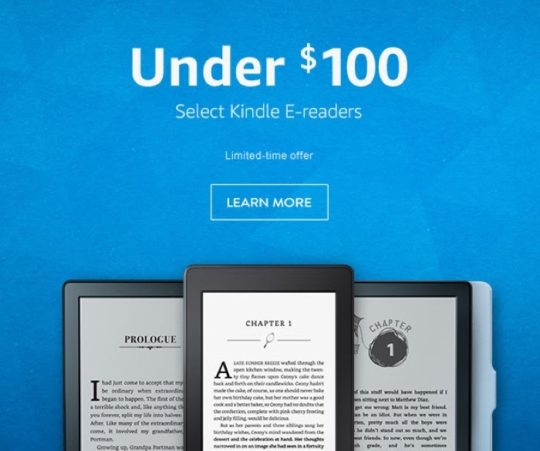 National Reading Month 2017 - save on select Kindle e-readers