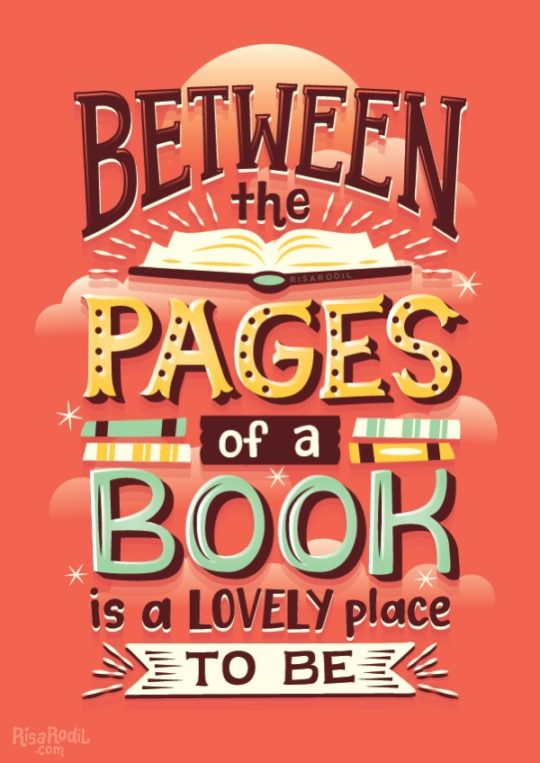 Illustrated Book Cover Quotes : Book quotes beautifully illustrated by risa rodil