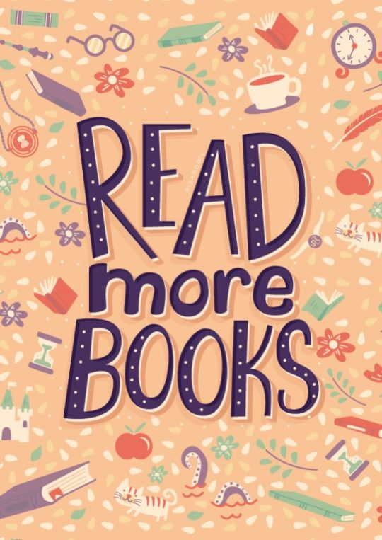 Read more books. - illustration by Risa Rodil