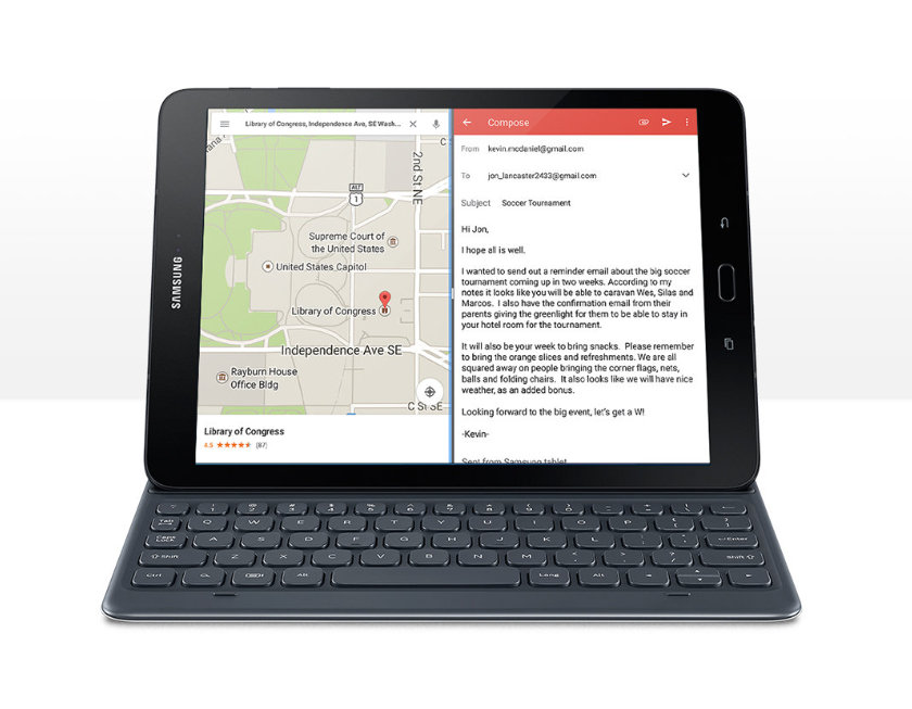 Samsung Galaxy Tab S3 9.7 2017 with a keyboard