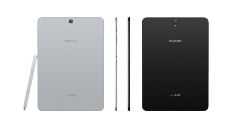 Samsung Galaxy Tab S3 9.7 comes with S Pen and two colors: Black and Silver