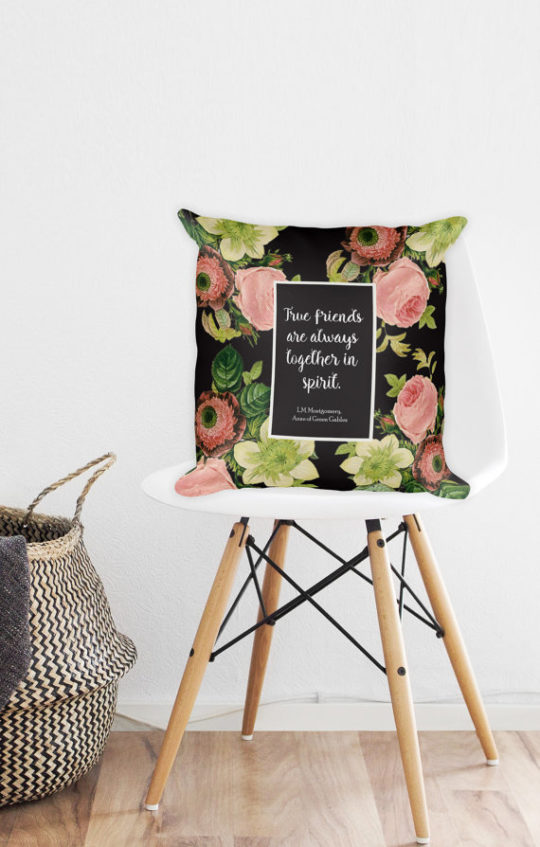 Anne of Green Gables quote pillow - bookish gift ideas for mother