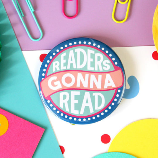 Book badge - bookish gifts for mom