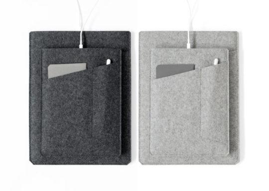 Dark or light 100% natural felt iPad 9.7 sleeve
