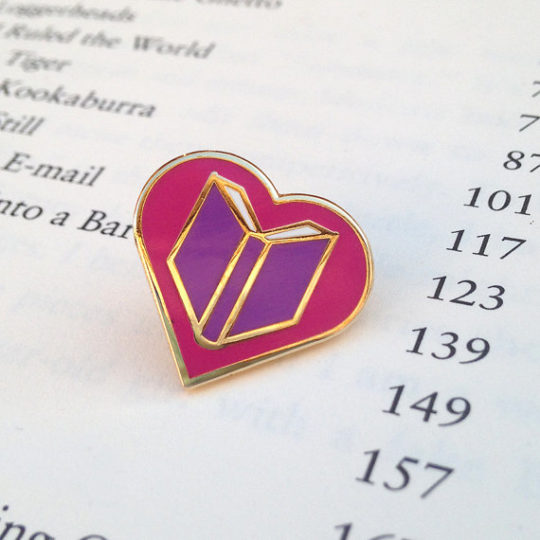 Gifts for bookish mom - literary statement pin