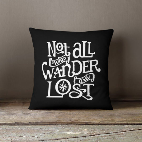 Etsy gifts for mom - literary quote pillow