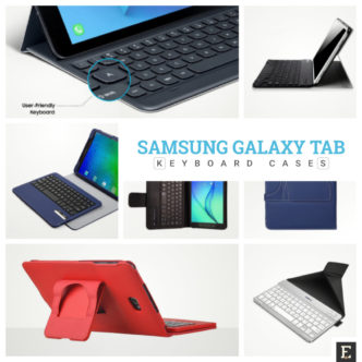 Keyboards and keyboard cases for Samsung Galaxy Tab tablets
