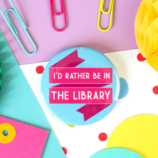 Library badge gift ideas for book-loving mother