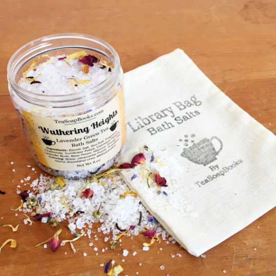 Literary bath salt is a great gift idea for a bookish mom