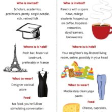 Literary salons vs. book clubs #infographic