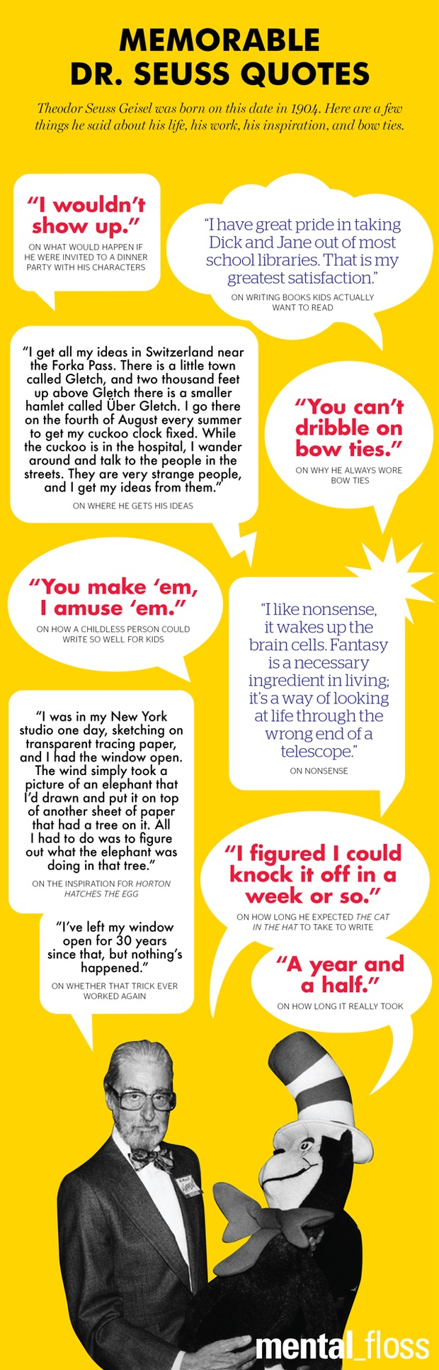 Memorable quotes from Dr Seuss #infographic