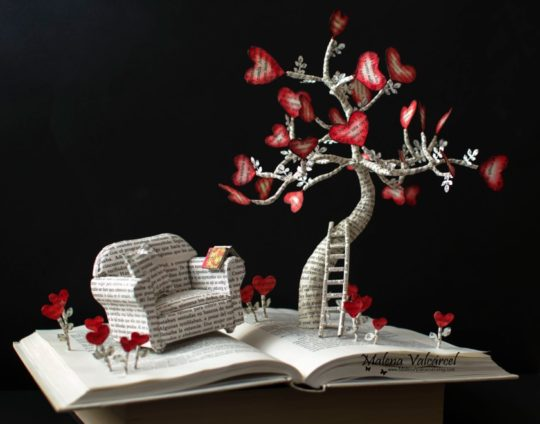 Non-book gifts for mom - book sculpture by Malena Valcarcel