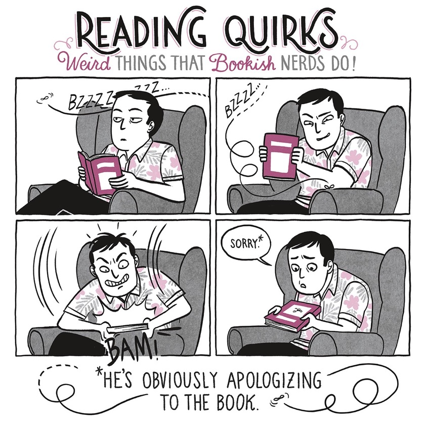 Reading Quirks No. 2 - Apologizing to the book