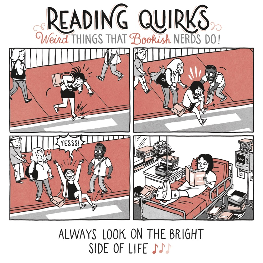 Reading Quirks No. 4 - Always look on the bright side of life