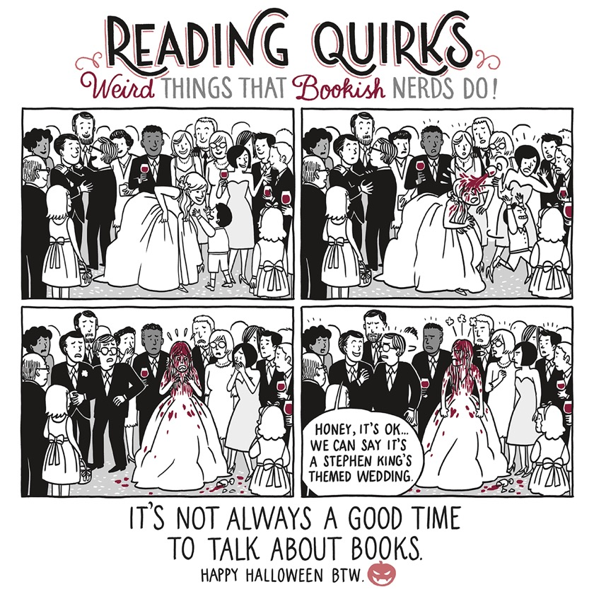 Reading Quirks No. 7 - A Stephen King themed wedding