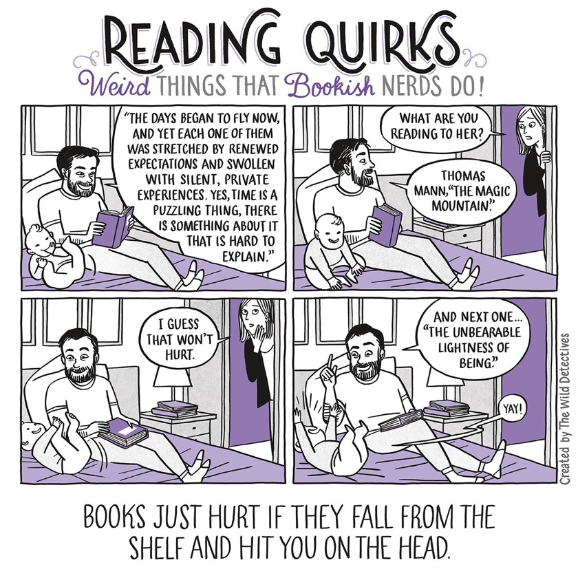 Reading Quirks No. 30 - Reading to a child