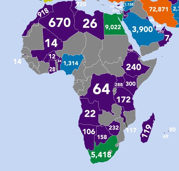 Which countries publish the most books - Africa