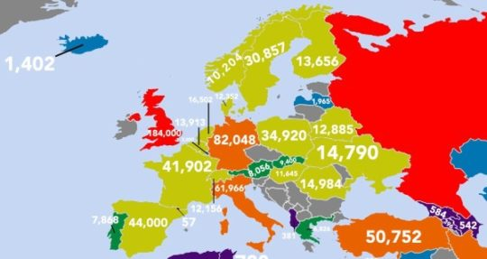 Which countries publish the most books - Europe