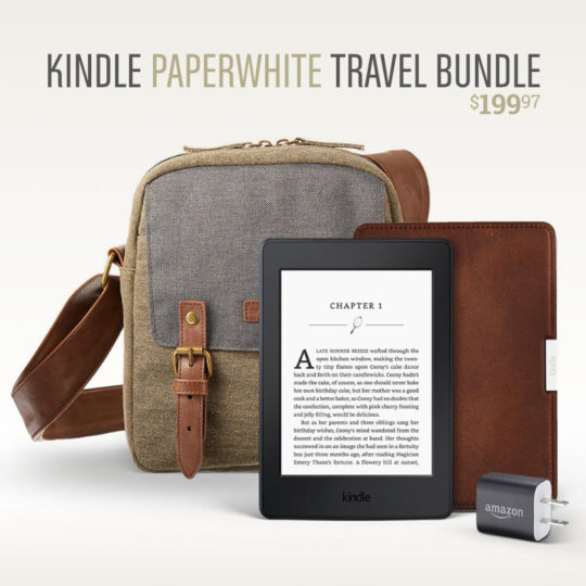 Amazon Kindle Paperwhite Travel Bundle