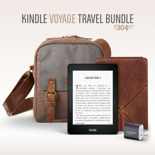 Amazon Kindle Voyage Travel Bundle