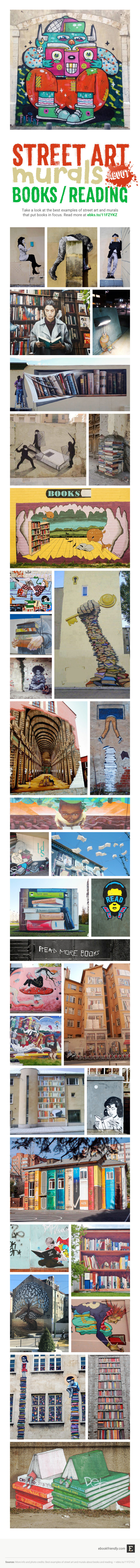 Best examples of the literary street art #infographic