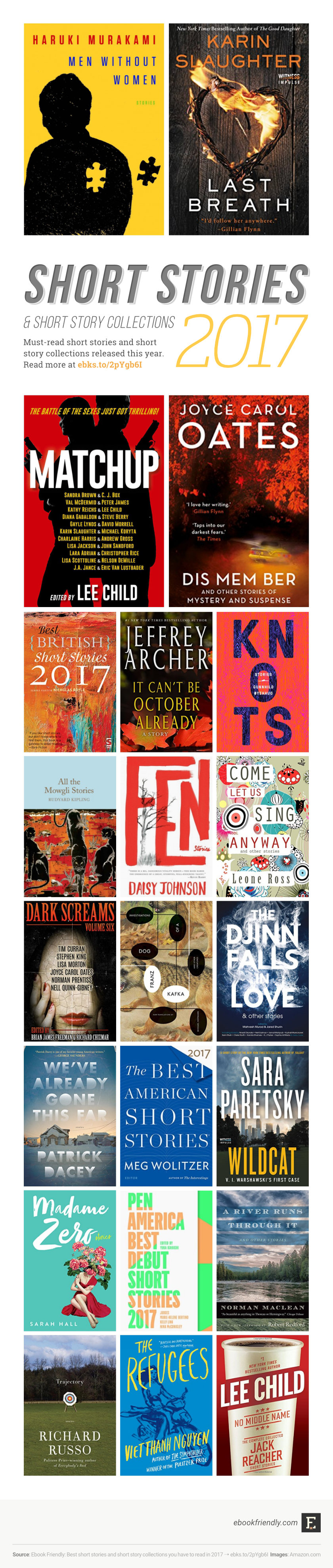 Best short stories and short story collections of 2017 #infographic