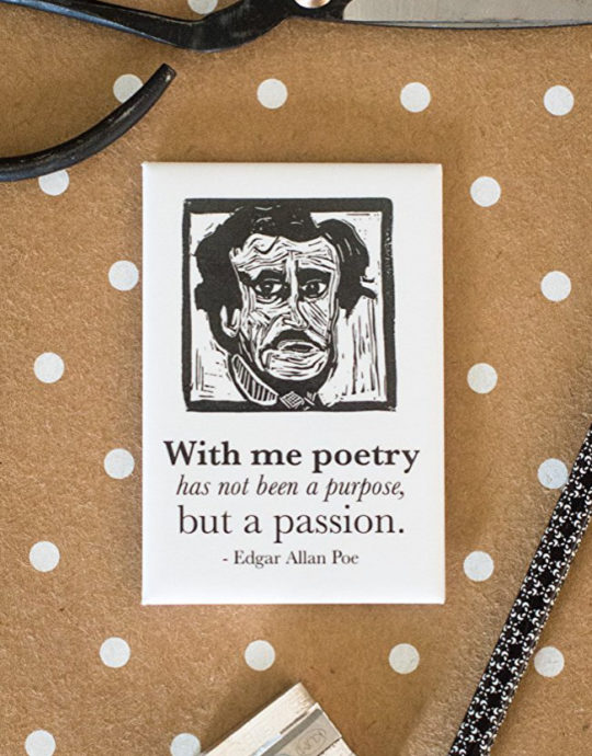 Book quote magnets - Edgar Allan Poe