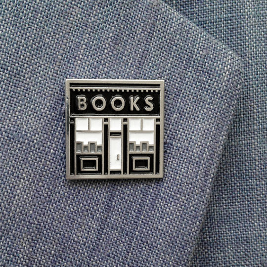 Bookshop enamel pin