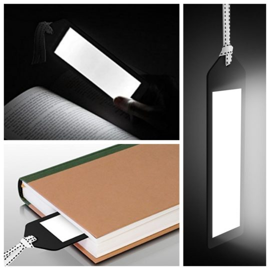Clever gifts for dad - Aluratek bookmark light