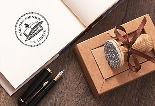 ExLibris book stamp - bookish gifts for dad and mom