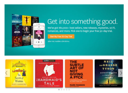 Gift your dad an Audible audiobooks subscription