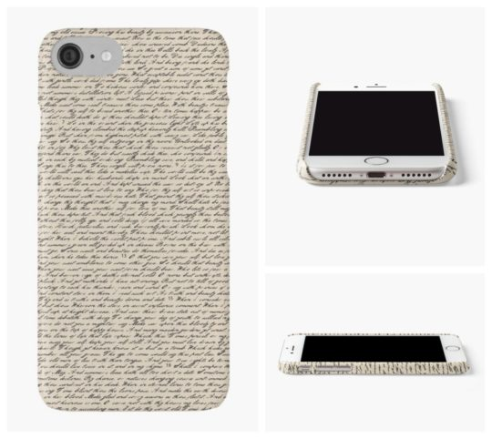 Gifts for dad - iPhone case with Shakespeare sonnets