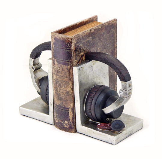 Headphone bookends - unique gifts for your father