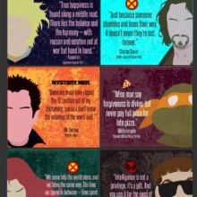 Inspirational quotes from your favorite comic books #infographic