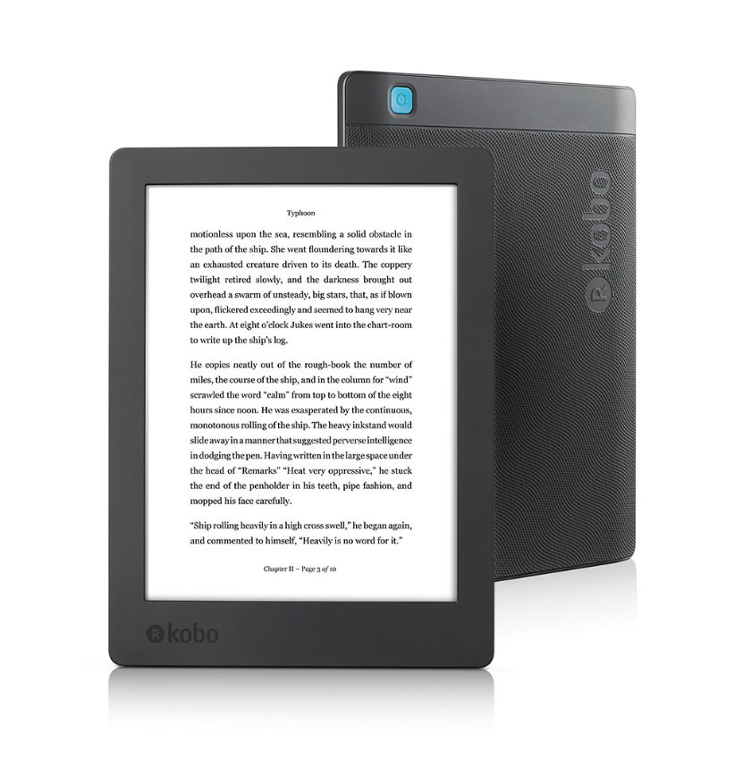 Kobo Aura H2O Edition 2 2017 - front and back