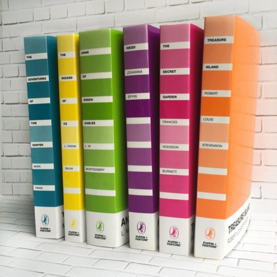 Puffin + Pantone classic novels are available from June 2017