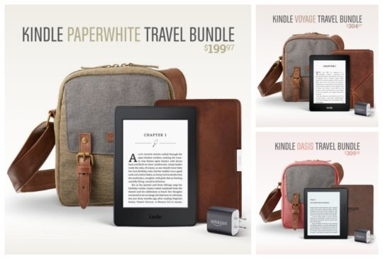 Three Amazon Kindle Travel Bundles with prices