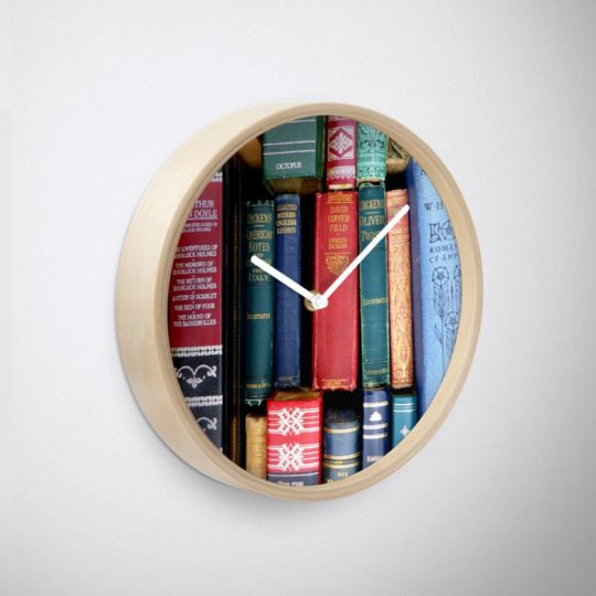 Vintage Books wall clock