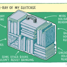 X-ray of holiday suitcase #cartoon