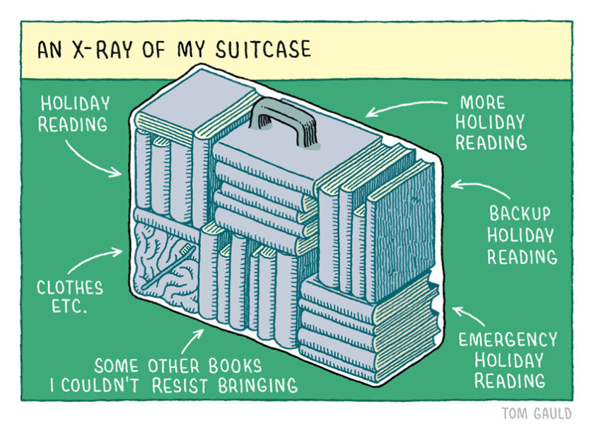 X-ray of holiday suitcase #cartoon